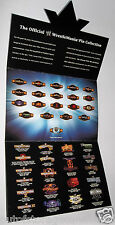 WWF / WWE Wrestling Belt Pin Set Complete With Card & Backs - New