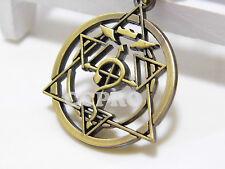 Fullmetal Alchemist Ouroboros Snake Sign Circle of Power Alloy Metal Necklace