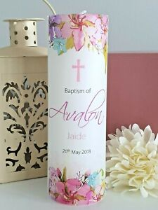 Personalised Christening/Baptism/Naming Day/First Communion Candle