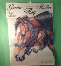 "Mother and Foal, Silk Reflections Garden Mailbox Decorative Flag, 12"" x 16"", NEW"