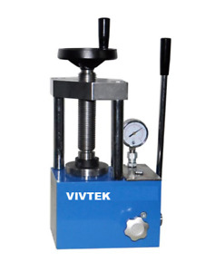 12 Ton 2 Pole with Safety Enclosure Laboratory Hydraulic Pellet Press
