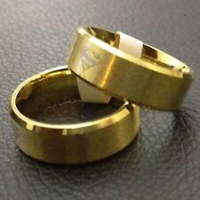 Superman Ring, UK Size R - Gold - DC Comics Stainless Steel Superhero Band