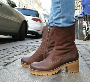 APPLE OF EDEN Schuh Anne 05 Braun dk Brown Damen Echtleder Stiefelette Boot