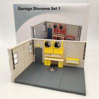 1/2/4 PCS 1:43 Scale Aurora Garage Diorama Scene Model(not include model cars)