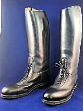 Men's Dehner Patrol Riding Boots 12 C Black Police Motorcycle Top Strap Laced