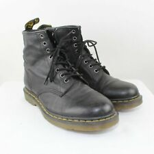 Dr. Martens Mens Black Smooth Leather Boots Lace Up Boots Size 10M