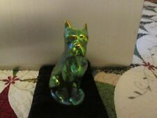ZSOLNAY Eosin Boxer Dog Figurine Porcelain