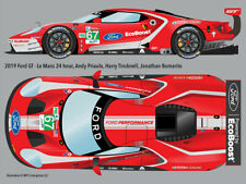 2019 #67 Ford GT retro-livery Le Mans 24hr water transfer decals 1/24 for Revell