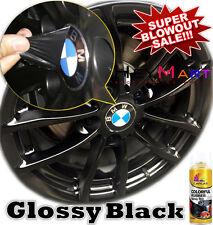 4x Can Glossy Black Rubber Paint Wheel Rim Plasti dip Spray Removable Paint x4