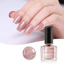 6ml BORN PRETTY Rose Gold Nail Polish Glitter  Nail Art Vanrish Tips