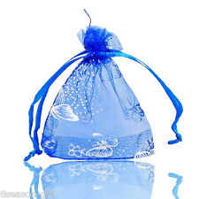 25PCs 7.5cm x9.5cm Dark Blue Organza Gift Bags Wedding/Christmas Favor