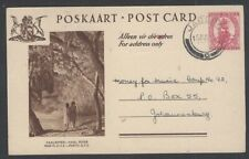 South Africa pictorial postal card VAAL RIVER used 1952 Jacobs to Johannesburg