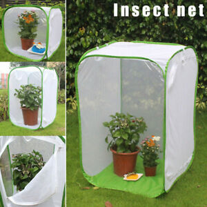 Insect Cage Foldable Butterfly Habitat Mesh Transparent Surface Portable Zipper