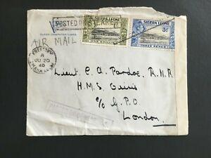 SIERRA LEONE 1940 CENSORED COVER TO LONDON