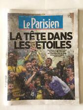 LE PARISIEN 16 07 18 COUPE MONDE RUSSIE FRANCE CROATIE LA TETE DANS LES ETOILES
