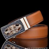 Croix Hommes Ceinture pour En cuir Véritable Jeans Automatique Boucle Ceinture