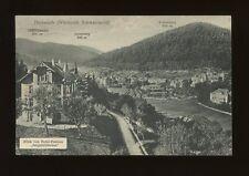 Germany HERRENALB Wurttemb Scwarzwald pension Bergschlosschen advert 1937 PPC