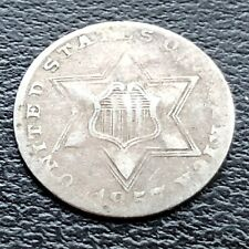 1857 Three Cent Piece Silver Trime 3c Mid Grade #22941