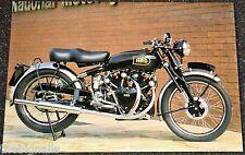 Classic 1949 1000cc VINCENT-HRD Black Shadow. Motorcycle Postcard