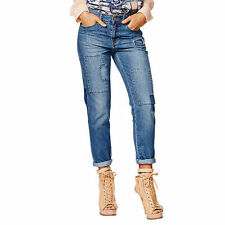Cotton Solid Mid-Rise Jeans for Women