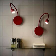 New IKEA BLAVIK Red Adjustable Battery Operated LED Wall Light Red