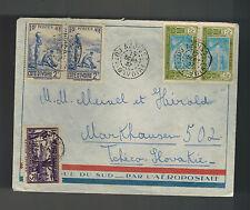 1937 Abaiso Ivory Coast cover to Czechoslovakia AOF Airmail