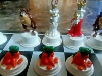 Looney Tunes Miniature Chess Set Mini Jeux D'Echecs #22 of only 550 made!!!