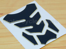 Gold Motorcycle Gas Fuel Oil Tank Pad Protector Decal Sticker Rubber Universal