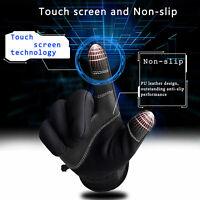 Men Women Touch Screen Warm Ski Gloves Zipper Winter Sports Thermal Outdoor -10℃