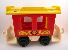 1973 FISHER PRICE Monkey Circus Train #991 Little People Red Cage Car