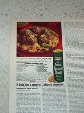 1974 vintage ad - Kraft Foods Parmesan Cheese - Meat Balls recipe old PRINT AD