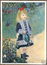 Renoir Girl With a Watering Can  Vintage Lithograph