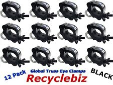 "Global Truss Eye Clamp 2"" (12 PACK) Black Finish Clamps Same day free shipping"