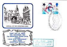 Noël 1985 Noël 12p Blue Star SOUS-IMPRESSION uniquement de Noël livret.