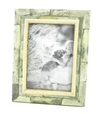 Photo Frame Green Stained and Natural Bone Hand Made in India For 5x7 Picture