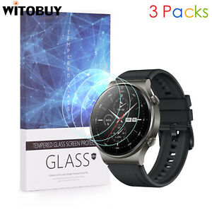 For HUAWEI WATCH GT 2 Pro 9H Hardness Tempered Glass Screen Protector 3 Packs