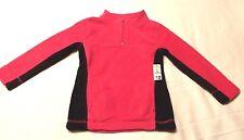 NWT - Girl's Pink & Black Half-Zip Fleece Pullover  sz. XL (14-16)