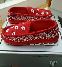 TROOPER BRAND BANDANA HOUSE SHOES  RED/WHITE MEN'S US SZ 11