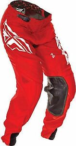 NOS FLY RACING 369-73238 LITE HYDROGEN PANTS RED WHITE SIZE MENS 38