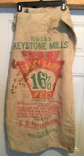 Vintage Keystone Mills Fancy Dairy Feed Sack Bag Cotton Fritch Milling Macungie