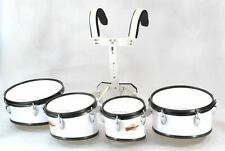 TRIXON FIELD SERIES III MARCHING TOMS SET OF 4 WHITE
