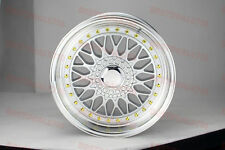"17"" RS STYLE SILVER/GOLD RIMS WHEELS FITS VW VOLKSWAGEN BEETLE GOLF MKV MKIV GTI"