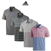adidas Ultimate 365 Heather Stripe Mens Golf Polo Shirt