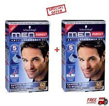 2 x Schwarzkopf  Perfect  For Men  Professional  Hair Color Gel - Med. Brown 60
