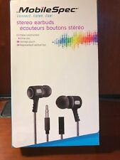 Mobilespec Stereo Earbuds With Storage Pouch And Replacement Tips