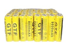 48 PACK 18650 9800MAH LI-ION 3.7V RECHARGEABLE BATTERY FLASHLIGHT TORCH USA SHIP