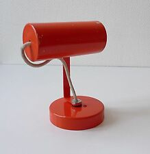 spot en metal applique vintage années 60 70 design 1970 pop art orange