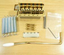 "Fender Stratocaster Gold Bridge 2 7/32"" Mount Gold Fender Strat Bridge Global"
