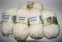"5 Skeins, Patons, ""Jenny"", Pale Peach w/ Flecks of Peach, Acrylic/Nylon Yarn"