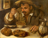 """perfect 36x24 oil painting handpainted on canvas""""The Beaneater""""N13971"""